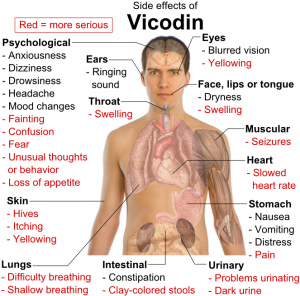 The Side Effects of Vicodin Drug