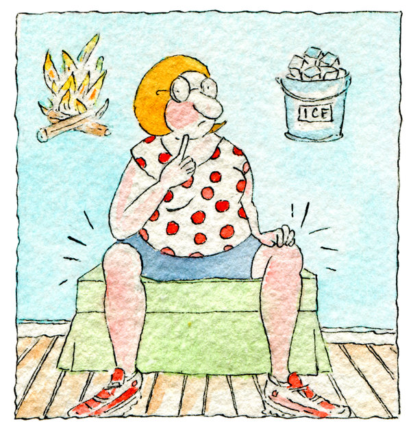 Ice and heat home treatment for lower back pain
