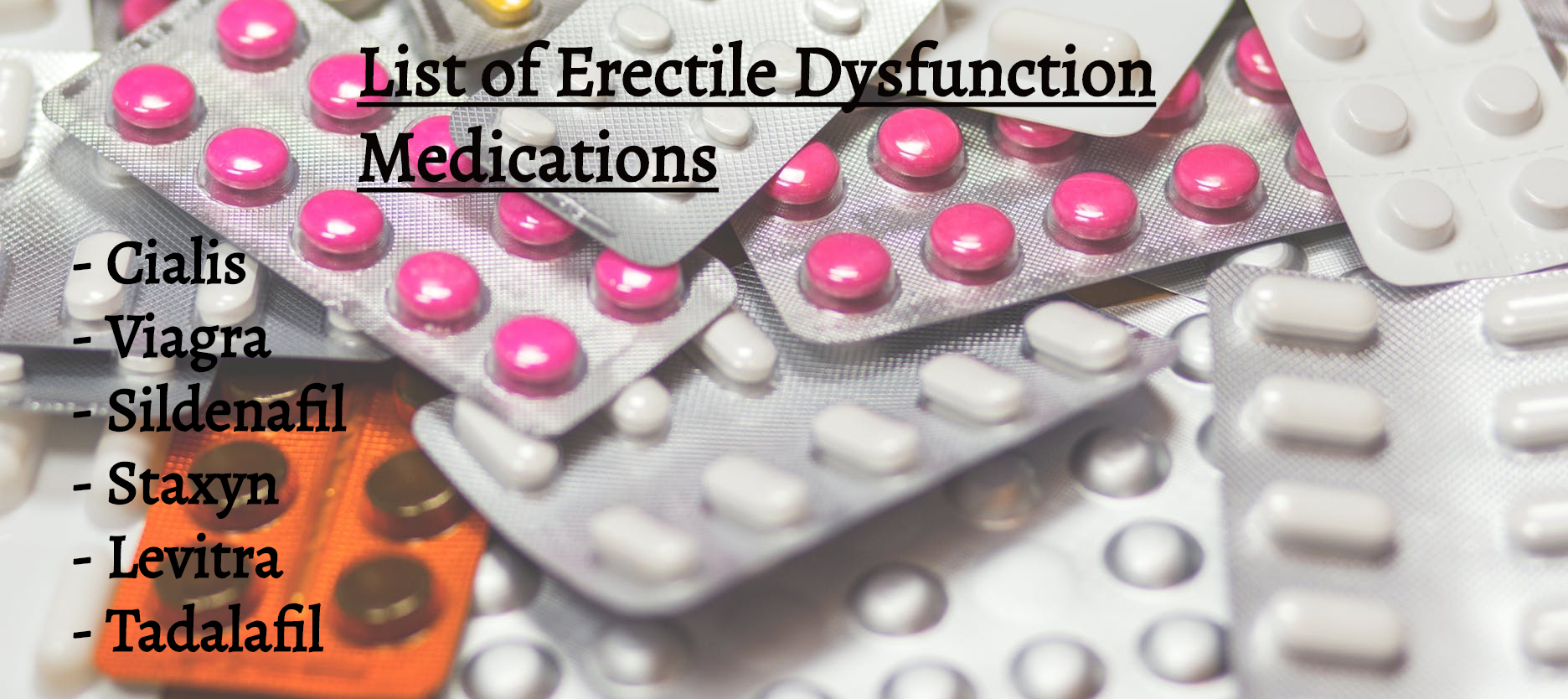 Medications for Ed