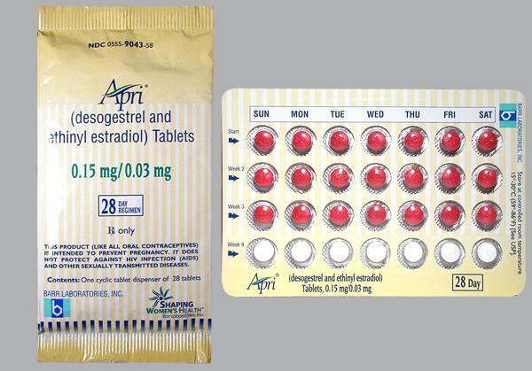 Apri birth control pills